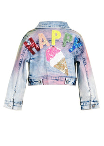 Baby Sara Rainbow Denim Jacket