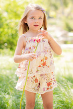 Load image into Gallery viewer, Mimi And Maggie Natural Botanical Flowers Girls Romper