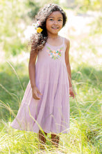 Load image into Gallery viewer, Mimi & Maggie Botanical First Spring Blossoms Girls Dress