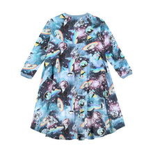 Load image into Gallery viewer, Paper Wings Hi Lo Raglan Dress - Girls in Space