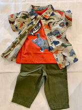 Load image into Gallery viewer, Hatley Jungle Green Baby Twill Pants