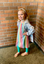 Load image into Gallery viewer, Hatley Metallic Hearts Rainbow Tulle Dress