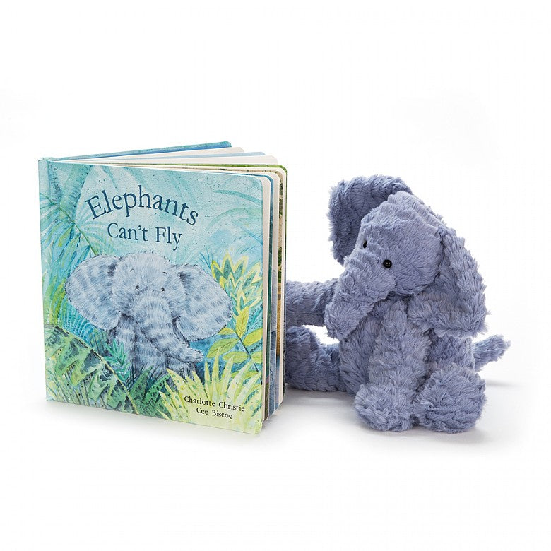 Elephants Can't Fly Book and Fuddlewuddle Elephant Gift Set