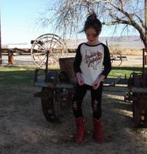 Load image into Gallery viewer, Rowdy Sprout Janis Joplin Girlie Raglan
