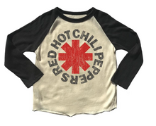 Load image into Gallery viewer, Rowdy Sprout Red Hot Chili Peppers Raglan Tee