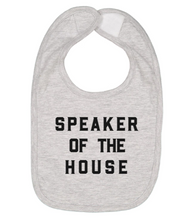 Load image into Gallery viewer, Love Bubby Speaker of the House Baby Bib