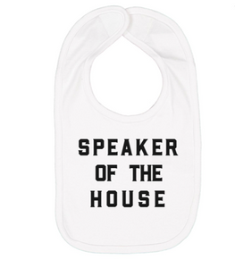 Love Bubby Speaker of the House Baby Bib