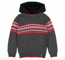 Load image into Gallery viewer, Deux par Deux Knitted Sweater Hooded Top