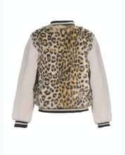 Load image into Gallery viewer, Hannah Banana Animal Print Faux Fur Bomber Jacket