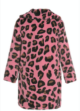 Load image into Gallery viewer, Hannah Banana Long Faux Fur Leopard Print Coat