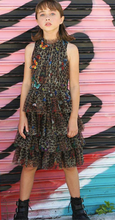 Load image into Gallery viewer, Hannah Banana Animal Print & Butterfly Tiered Mesh Party Dress