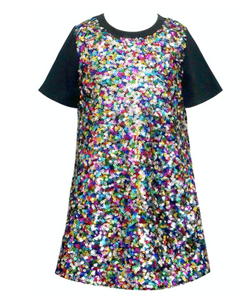 Baby Sara A-Line Sequin Dress