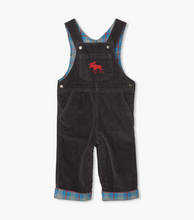 Load image into Gallery viewer, Hatley Grey Stretch Cord Baby Overalls