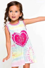 Load image into Gallery viewer, Baby Sara Tie Dye Heart Aline Dress
