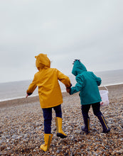 Load image into Gallery viewer, Joules Riverside Yellow Tiger Raincoat