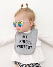 "Load image into Gallery viewer, Love Bubby ""My First Protest"" Baby Bib"