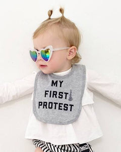 "Love Bubby ""My First Protest"" Baby Bib"
