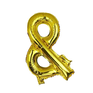 AMPERSAND '&' SIGN FOIL BALLOON - GOLD