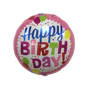 "18"" BALLOONS BIRTHDAY FOIL"