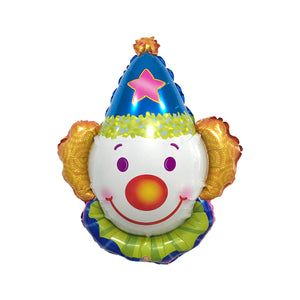 "22"" CLOWN w BLUE HAT FOIL"