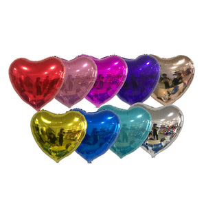 PERSONALIZED CLUSTER w HEART FOIL - CHROME COLOR