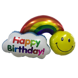"36"" HAPPY BIRTHDAY RAINBOW FOIL"