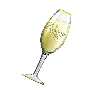 "40"" CHAMPAGNE GLASS FOIL"