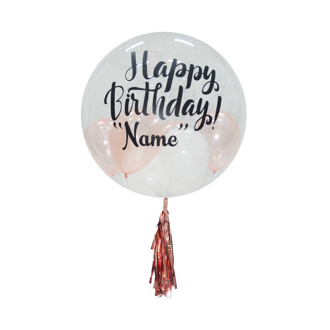 CUSTOMIZABLE BUBBLE BALLOON - HAPPY BIRTHDAY