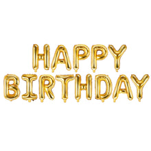 "Load image into Gallery viewer, 16 INCH ALPHABET ""HAPPY BIRTHDAY"" SET - MULTIPLE COLORS"