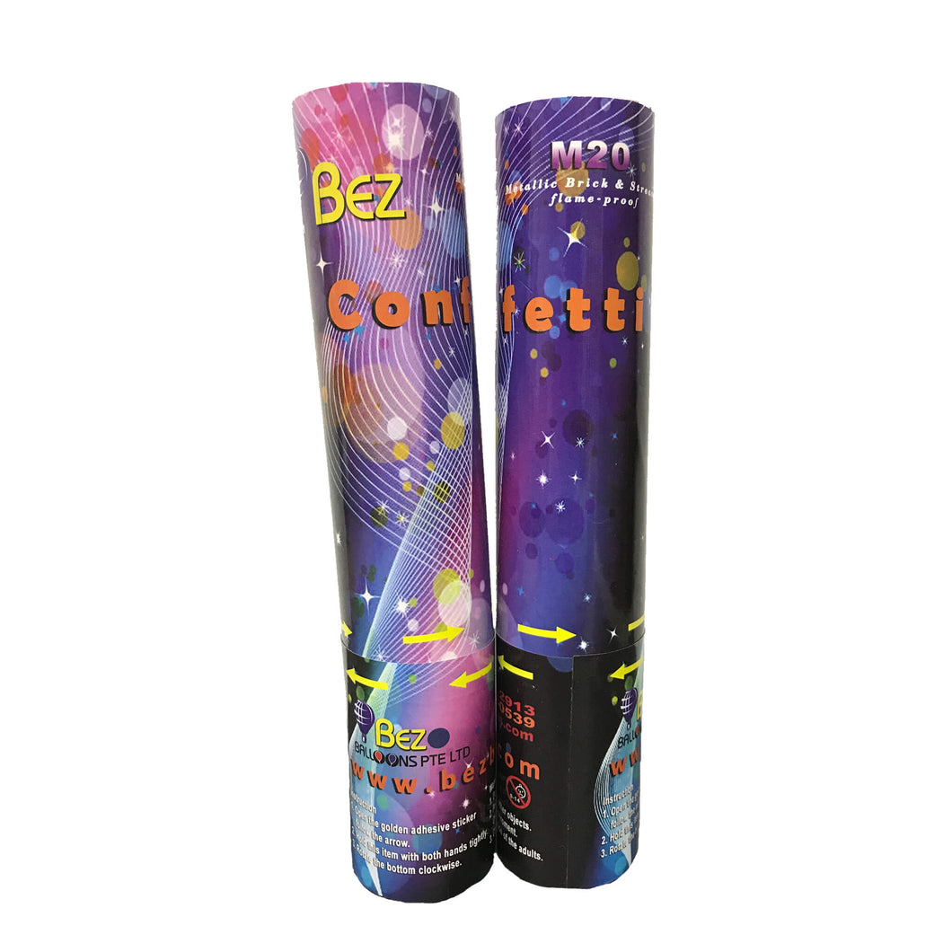 M20 CONFETTI STICK - METALLIC STRIPS