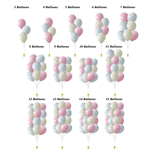 "12"" HELIUM FILLED BALLOON CLUSTERS - MACAROON COLOR"