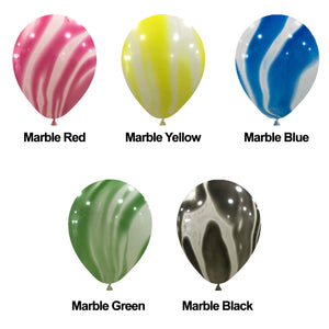 "12"" HELIUM FILLED MARBLE BALLOON"