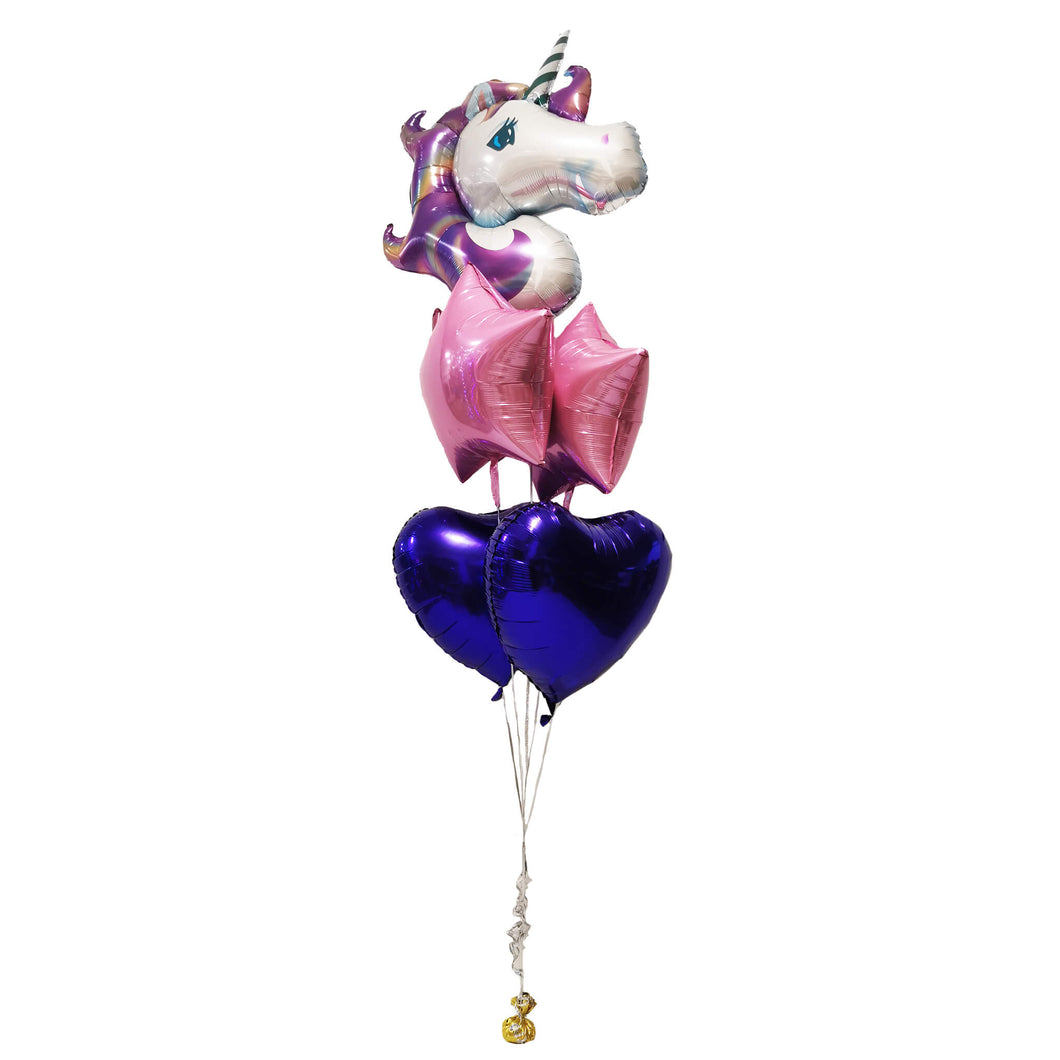 UNICORN STARS & HEARTS FOIL BOUQUET