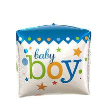 "Load image into Gallery viewer, 15"" BABY BOY/GIRL CUBE FOIL"