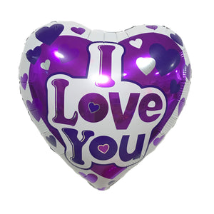 "18"" I LOVE YOU HEART - PURPLE"