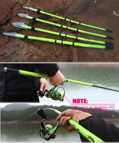 Carbon Fiber Rock Fishing Rod Telescopic feeder pole Spinning Carp Portable travel