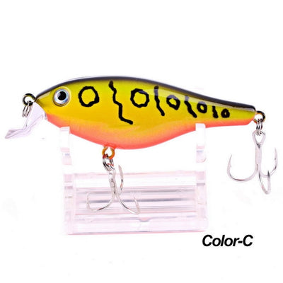 1PC Crank Painting Crankbait Plastic Fishing Lures
