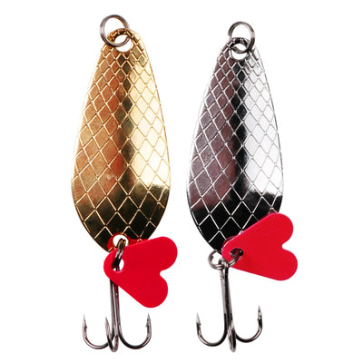 2pcs/lot Fishing Spoon 9g Spoons Lure Set Hard Bait Spinner