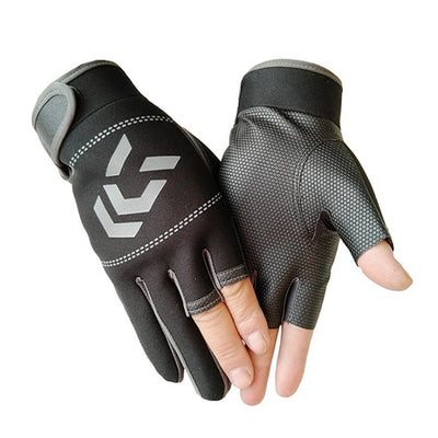 Fishing Gloves, Outdoor 3 Fingers Cut Fishing Gloves