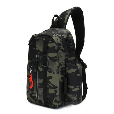 Fishing Bag Folding Shoulder Waist Bag Large Capacity