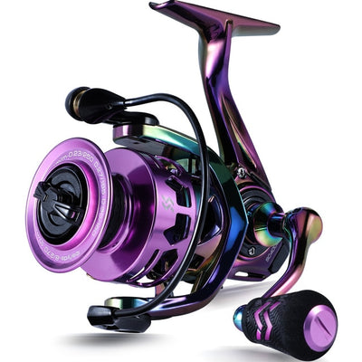 Sougayilang New 5.2:1 Spinning Reel Max Drag 8Kg 13+1BB Carp Fishing Reel 1000-4000 Aluminium Spool Spinning Saltwater Wheel