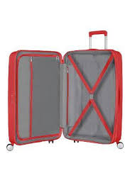 AMERICAN TOURISTER SOUNDBOX TROLLEY SPINNER 67CM CORAL RED 32G*10002