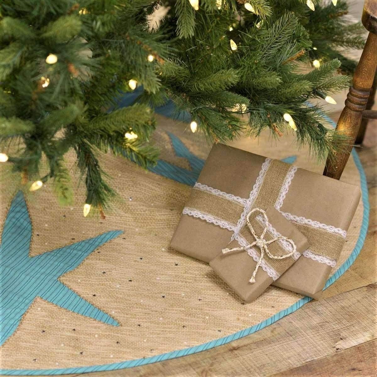 Star Fish Coastal Christmas Tree Skirt Your Western Decor Llc