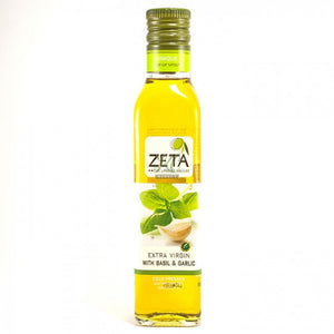 Extra Virgin Olive Oil seasoned with Basil & Garlic 0.25L