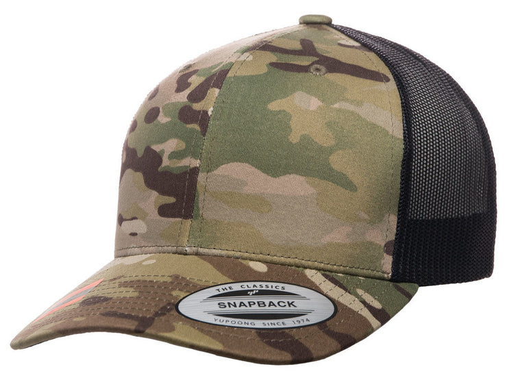 Flexfit Fan Trucker 14 - Brown/Multicam