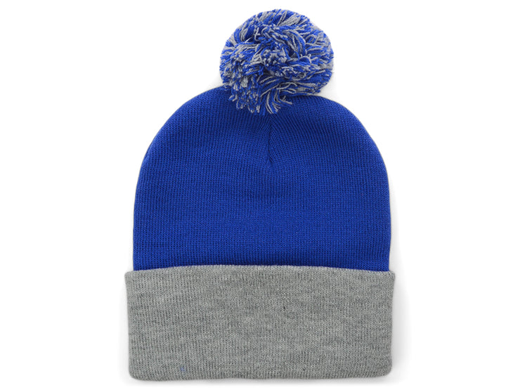 "Sportsman Blank 12"" Pom Knit - Royal Blue/Heather"