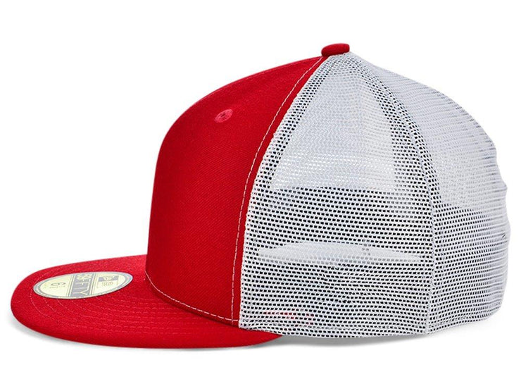 New Era Custom 59FIFTY Trucker - Red/White