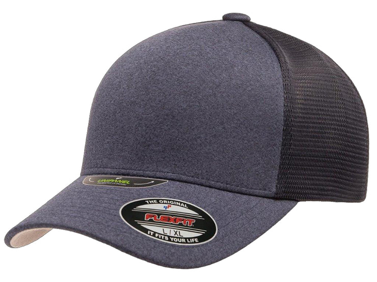 Flexfit Unipanel Heather Flex Hat - Navy