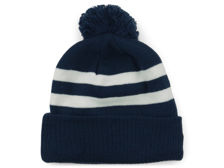 New Era Blank Pom Knit - Navy