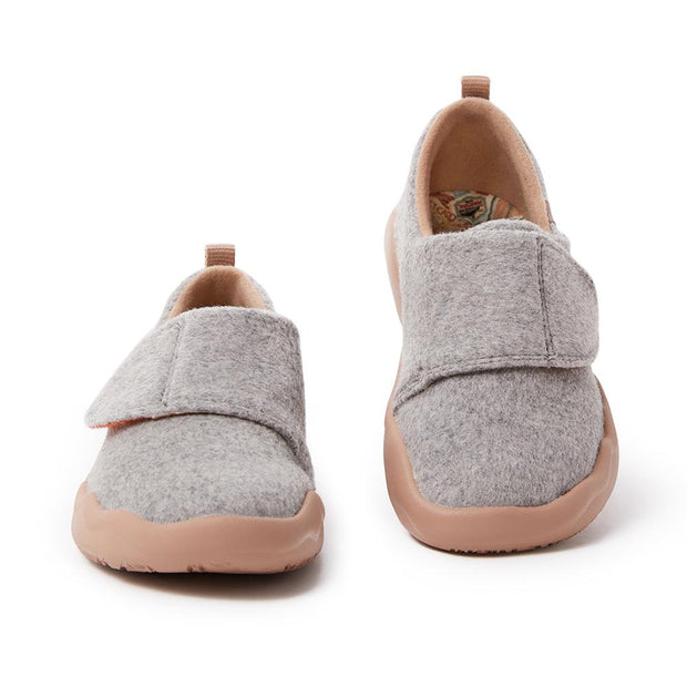Toledo II Light Grey Wool Kid
